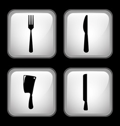 Set cutlery vector