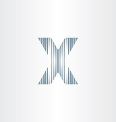 Scratched letter x symbol vector