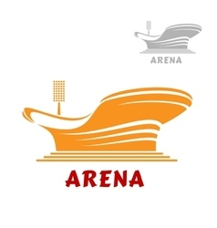 Architectural icon of a modern stadium vector