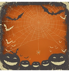 Halloween background grunge frame vector