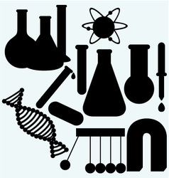 Set of objects used in science vector