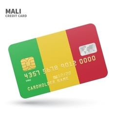 Credit card with mali flag background for bank vector