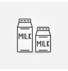 Milk thin line icon vector