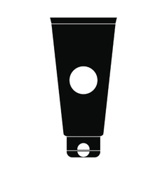 Cosmetic tube black simple icon vector