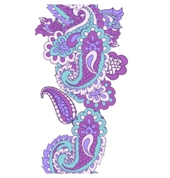 Abstract seamless paisley border vector