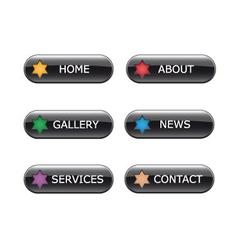 web navigation buttons vector image