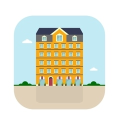 Yellow high house vector