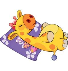 a soft toy giraffe vector image vector image