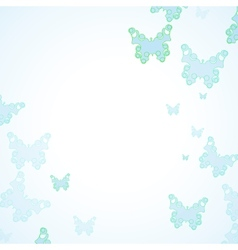 Abstract butterfly background vector