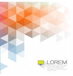 abstract colorful triangle overlapping with white vector image vector image