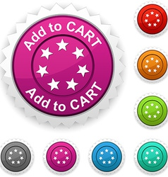 Add to cart award vector