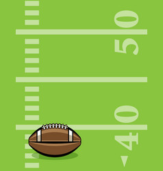 American football ball and field background vector