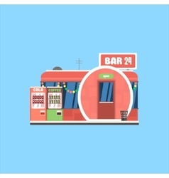 Bar Front in Christmas vector image vector image