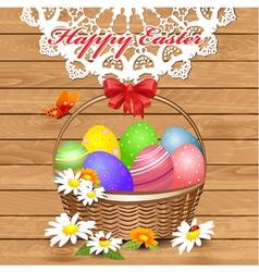 basket easter3 vector image