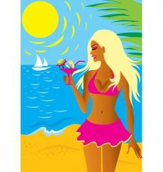 bikini girl vector image vector image