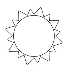 Black line sun icon vector