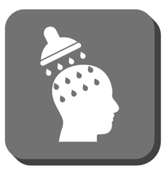 Brain Washing Rounded Square Icon vector image