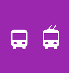 Bus and trolleybus icons transport signs vector