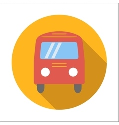 Bus flat icon vector