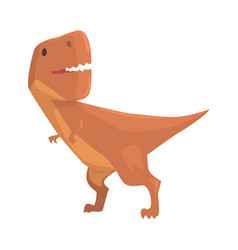 cartoon allosaurus dinosaur character jurassic vector image