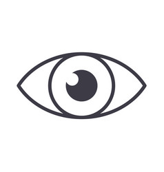 eye sign line icon sign on vector image vector image