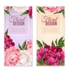 Floral Design Banners Set vector image