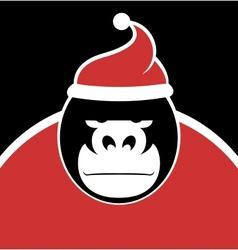 Gorilla Santa vector image vector image