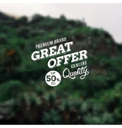 Great offer premium brand reduction vector