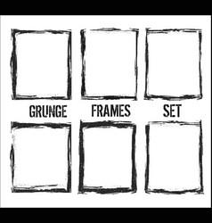 grunge frame set vector image
