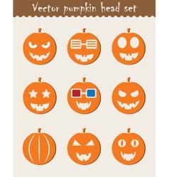 Halloween Pumpkin icons vector image vector image