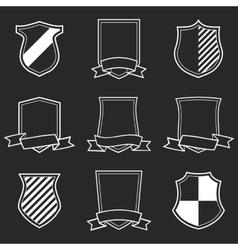 Heraldic shield emblem set vector