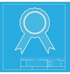 Label sign ribbons White section of icon on vector image vector image
