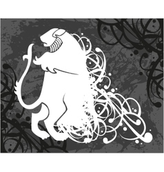 Lion coat of arms vector image vector image