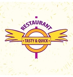 Logo restaurant cafe quick and tasty vector