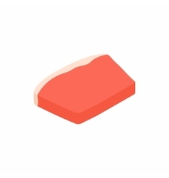 Meat icon isometric 3d style vector image vector image