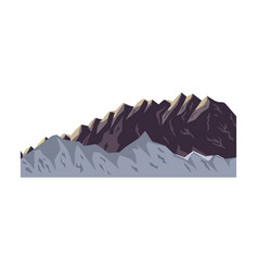 mountain peak nature high image vector image