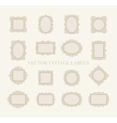 Pastel Frame Set vector image vector image