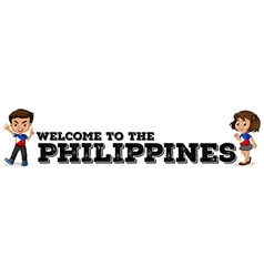 Philippines boy and girl vector