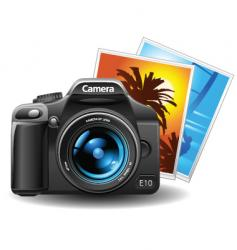 photo and camera vector image vector image
