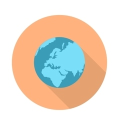Pictograph globe icon isolated on white vector