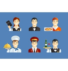 Restaurant service vector image vector image