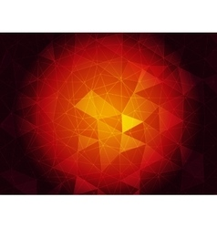 Ruby triangulated background vector image vector image
