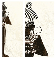 Template banner with ancient egypt symbol vector