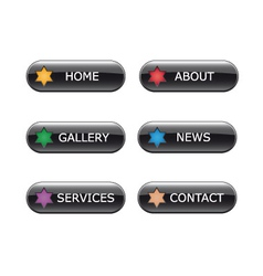 web navigation buttons vector image