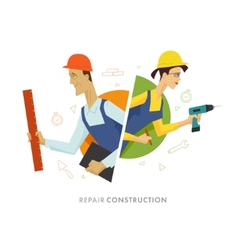 Worker male and female user symbol vector image vector image