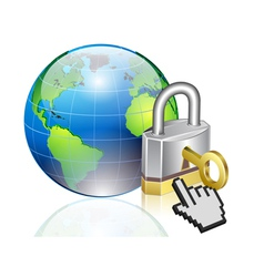 world lock vector image vector image