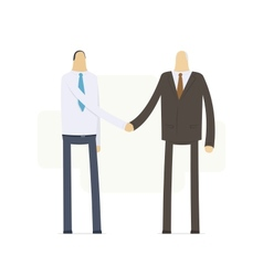 Handshake employee and boss vector