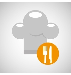 Delivery food chef hat fork knife vector