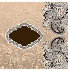 Ornamental template vector