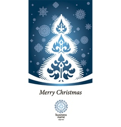 blue lace image winter tree vector image